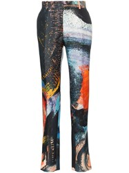 Alexander Mcqueen Printed Tailored Trousers 8500 Multicoloured
