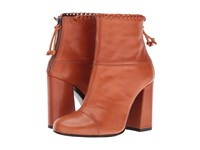 Mcq By Alexander Mcqueen Pembury Whip Stitch Rust Veg Calf Women's Boots Bronze