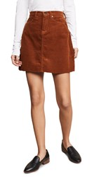 Blank Denim Corduroy Mini Skirt Clockwork Copper