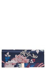 Ted Baker London Bow Satin Evening Bag Blue Navy