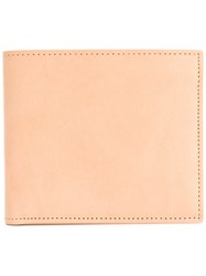 Maison Martin Margiela Classic Bi Fold Cardholder Men Leather One Size Nude Neutrals