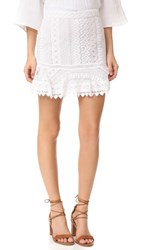 Bb Dakota Vera Lace Miniskirt Optic White
