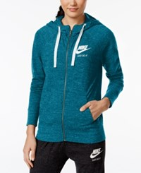 Nike Gym Vintage Full Zip Hoodie Green Abyss