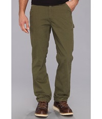 Carhartt Washed Twill Dungaree Flannel Lined Pant Army Green Men's Casual Pants