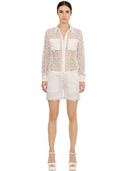 Ermanno Scervino Techno Lace Jumpsuit With Silk Details