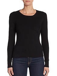L'agence Ribbed Cotton And Cashmere Top Black
