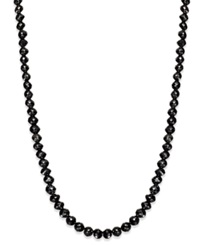 Macy's Black Diamond Necklace In 14K White Gold 25 Ct. T.W.