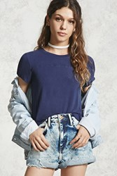 Forever 21 Faded Wash High Low Tee
