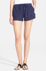Women's Joie 'Ilya' Linen Cargo Shorts Dark Navy