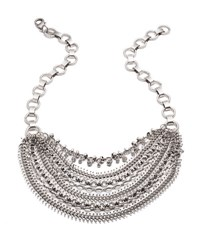 Dannijo Ursula Crystal Statement Necklace Clear