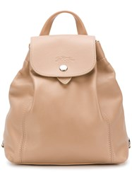 Longchamp Snap Fastening Backpack Nude And Neutrals