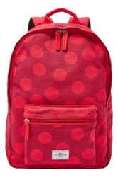 Fossil Ella Canvas Backpack Red
