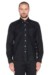Saturdays Surf Nyc Crosby Denim Button Up Black