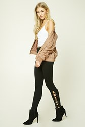 Forever 21 Lace Up Leggings