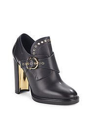 Salvatore Ferragamo Leather Gancio Buckle Monk Strap Booties Neutro