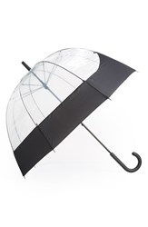 Hunter 'Moustache' Bubble Umbrella Black