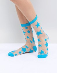 Gipsy Star Ankle Socks Blue