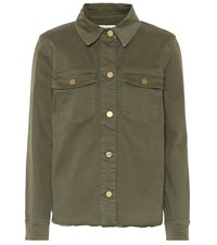 Frame Denim Jacket Green