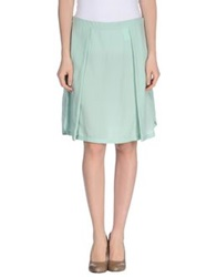 Gattinoni Knee Length Skirts Light Green