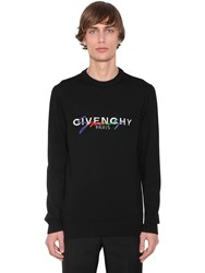 Givenchy Logo And Rainbow Embroidered Wool Sweater Black