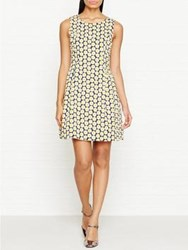 Love Moschino Sleeveless Daisy Print Dress Black