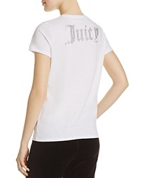Juicy Couture Black Label Gothic Crystal Tee White
