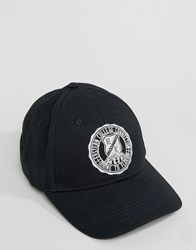 Asos Baseball Cap In Navy With Collegiate Embroidery Navy Blue