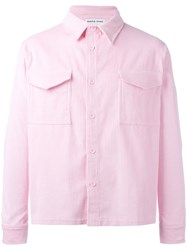 Proper Gang Ribbed Shirt Jacket Pink Purple
