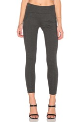 Three Dots Foldover Legging Charcoal