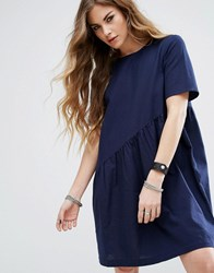 Noisy May Asymmetric Swing Dress Navy