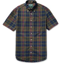 Gitman Brothers Vintage Slim Fit Madras Checked Cotton Shirt Green