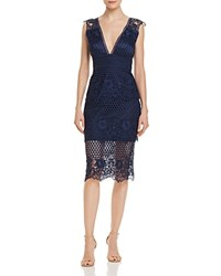 Laundry By Shelli Segal Lace Illusion Dress Midnight