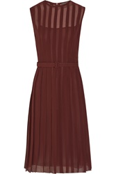 Bottega Veneta Pleated Silk Georgette Dress