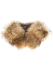 Mr And Mrs Italy Fur Collar Brown