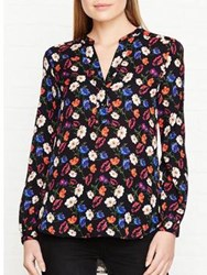 Whistles Pansy Print Blouse Multicolour