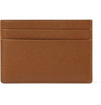 Common Projects Cross Grain Leather Cardholder Brown