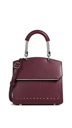Alexander Wang Dime Mini Flap Satchel Cranberry