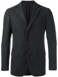 Massimo Piombo Mp Three Button Blazer Grey