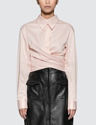 Opening Ceremony Sateen Wrap Front Shirt