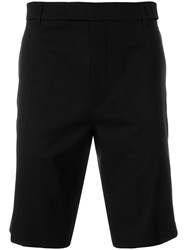Helmut Lang Cut Out Tailored Shorts Black
