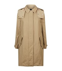 Burberry Hooded Parka Coat Female Taupe