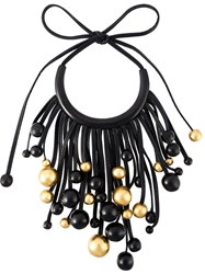 Monies Chunky Beads Necklace Black
