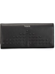 Tod's Studded Wallet Black