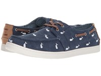 Toms Oceana Lace Up Embroidered Whale Men's Shoes Blue