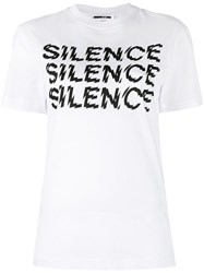 Mcq By Alexander Mcqueen Silence T Shirt Women Cotton Xs White