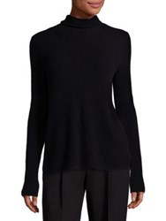 A.L.C. Pippa Wool And Cashmere Cutaway Turtleneck Sweater Black