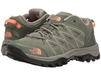 The North Face Storm Iii Deep Lichen Green Feather Orange Women's Shoes