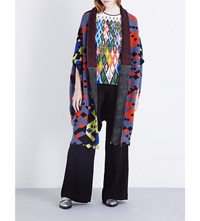 Peter Pilotto Tribal Print Wool Blend Cardigan Multi