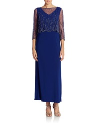 Patra Beaded Popover Dress Royal Blue