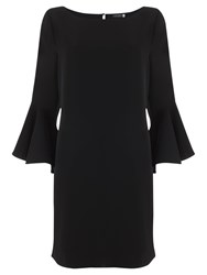 Mint Velvet Fluted Sleeve Dress Black